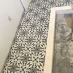 Mosaic white and grey tile