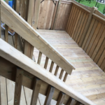 Wood patio railing